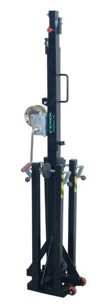 Telescopic tower with traditional leg system