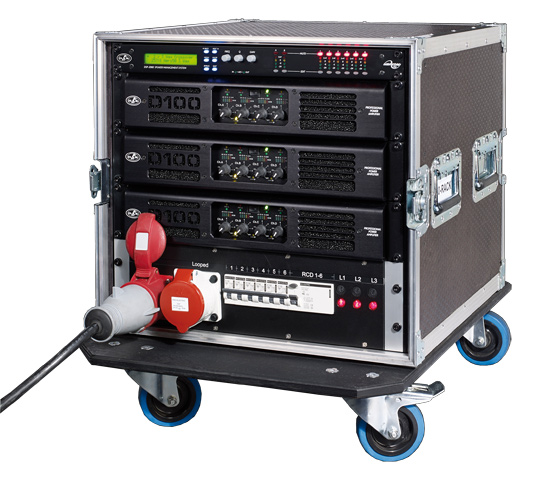 10u 4xamp And Power Rack For Aero 50 Line Array Systems
