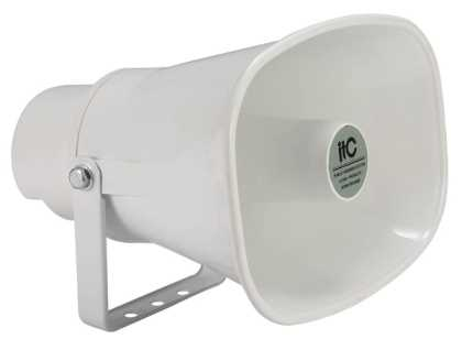 Outdoor 15W/100v horn speaker, IP66 7.5-15W