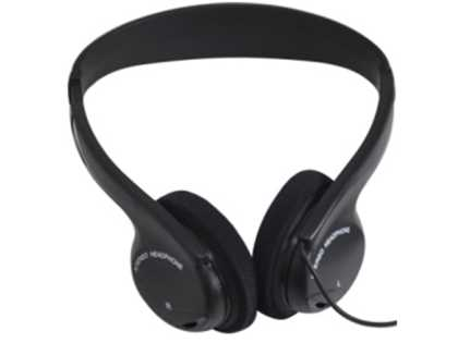Stereo headset. Black, Over head style
