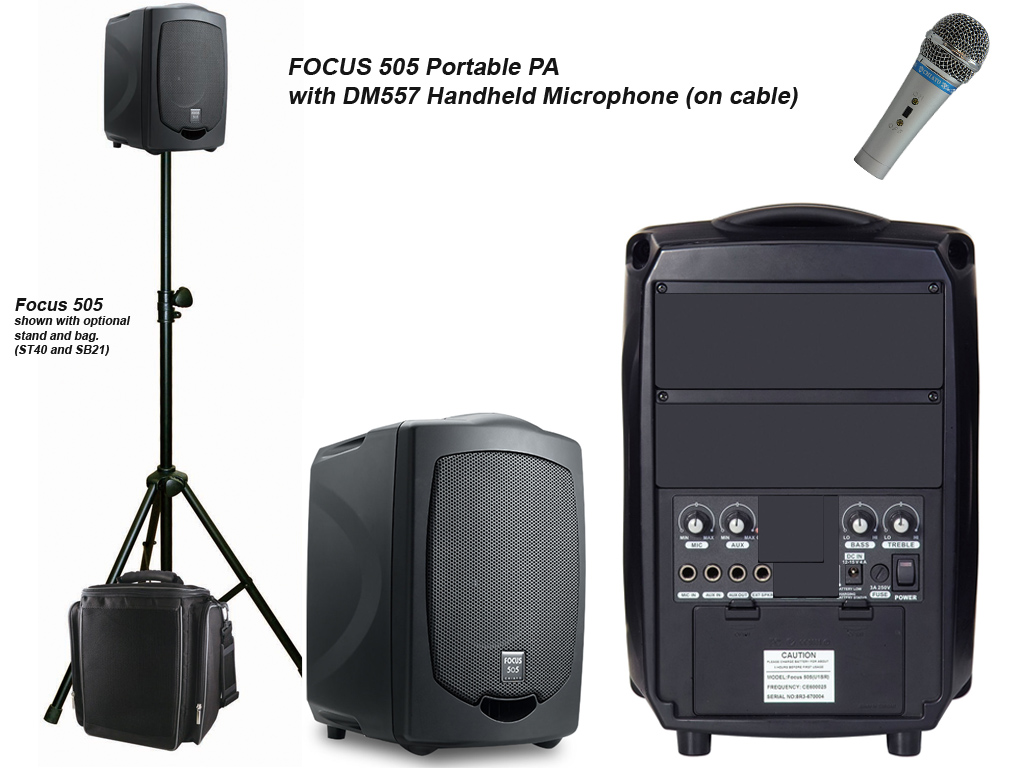 Portable Pa System Focus 505 With Microphone Edwards