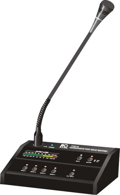 4 Zone Remote Paging Microphone