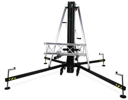 Aluminium front loading speaker tower for 500kg lift