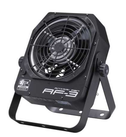 DMX / manual control stage fan, adjustable angle, metal