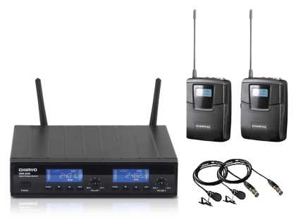 Dual Digital Radio Microphone Package: 2 x Lapel Mics