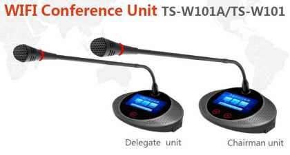 "Wireless Delegate unit with IC card; 4:3""screen"