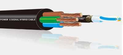 Power and Audio signal Hybrid Cable. 25AWG