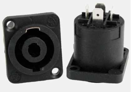 4P Female Speakon Connector - chassis mount