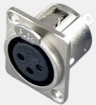 XLR Chassis mount connector, 3P Female