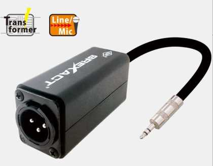 Mini Jack in mixed to Mono XLR out w 50K iso