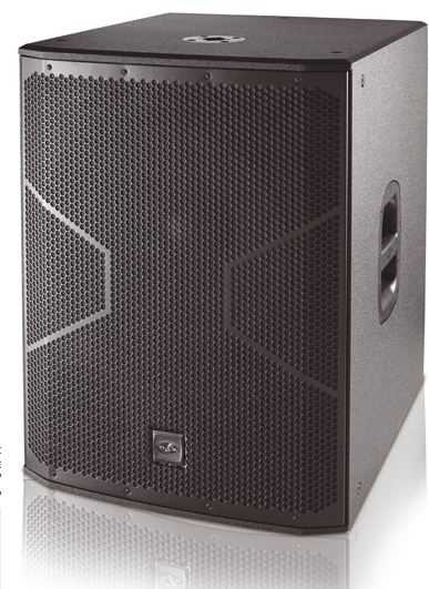"600W Active 18"" long excursion bass-reflex subwoofer"