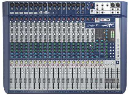 Soundcraft Mixer: 14 x mono, 3 stereo w/effects