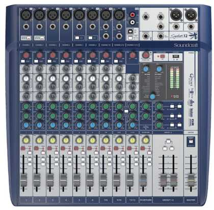 Soundcraft Audio Mixer: 8 x mono, 2 stereo, 1 USB, FX