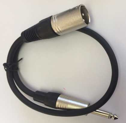 Short link cable - 6.3mm Jack to XLR male- 0.5 mtr