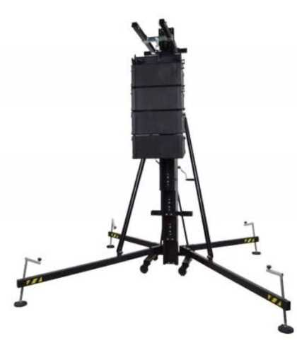 Aluminium frontal loading tower. Load from ground. Blk