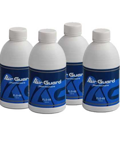AirGuard Sanitiser solution - 4 bottles