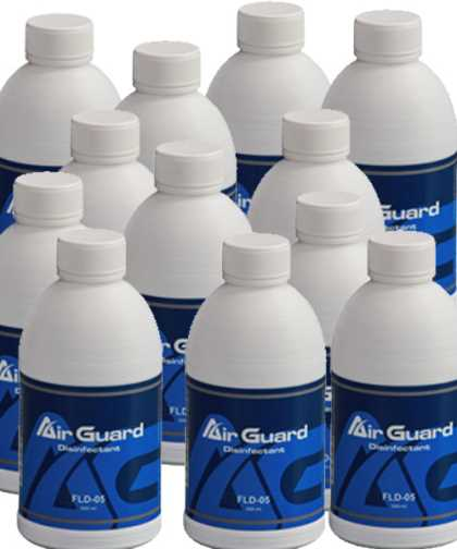 AirGuard Sanitiser solution - 24 bottle Pack