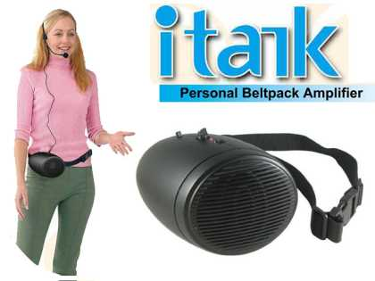 iTalk Portable PA Amplifier and Headset Microphone