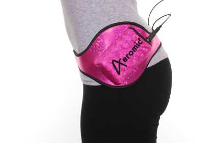 Aeromic Hipster (angled) mic belt for Cycling - Pink
