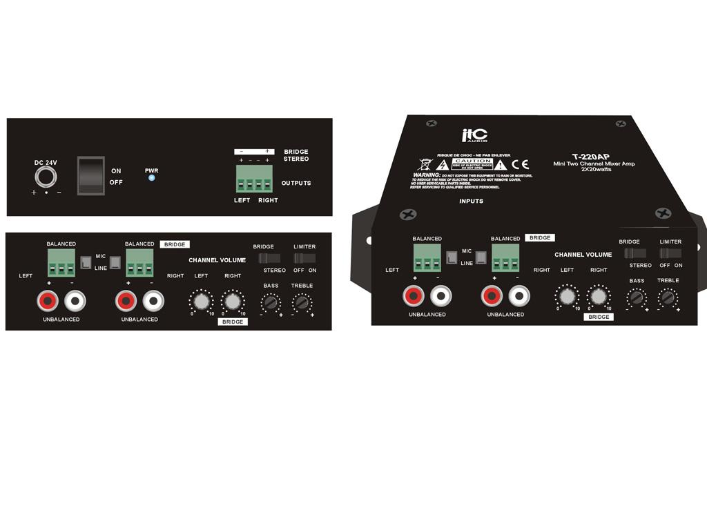 Class D Audio Amplifier 20 Watts X2 Stereo 40w Bridge Edwards System