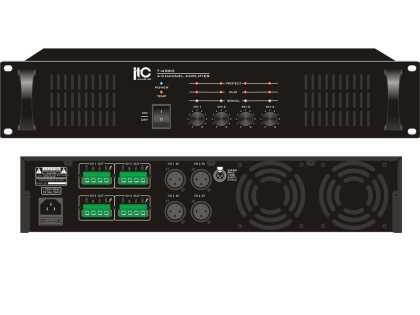 4 channel x 60 Watt  Amp, 100v / 4ohm, Balanced Inputs