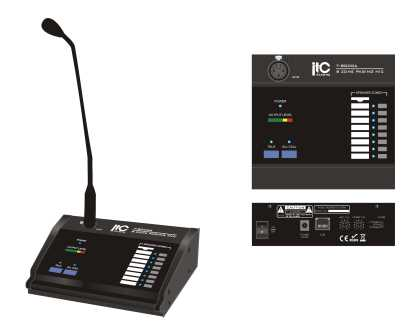 Remote 8 zone Paging console for Audio Matrix