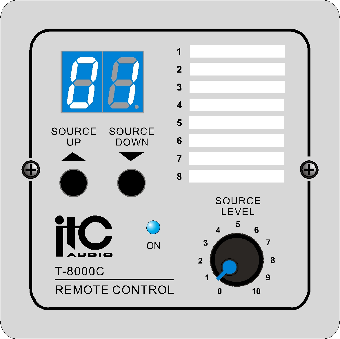 Remote Volume Control : Remote control panel for audio matrix volume