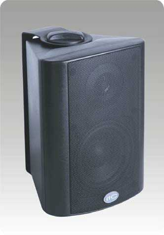 "15w/100v 4""+1.5"" 2-way wall mount speaker, Black"